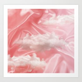 """Pink pastel sweet heaven and clouds"" Art Print"