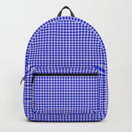 Blue Gingham Backpack