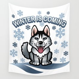 Wolf winter Wall Tapestry