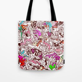 Kamasutra LOVE - Candy Cane Red Tote Bag