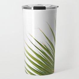 Tropical Palm Green Plant Leaf Minimalist Modern Photo Travel Mug