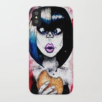 burger iPhone & iPod Cases featuring Burger by Tufty Cookie