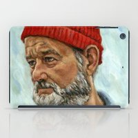 zissou iPad Cases featuring Bill Murray / Steve Zissou by Heather Buchanan