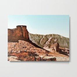 rock and road trip at Utah,USA in summer Metal Print