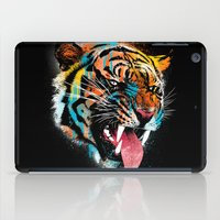 logo iPad Cases featuring FEROCIOUS TIGER by dzeri29