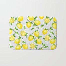 You're the Zest - Lemons on White Bath Mat