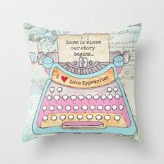 Typewriter #6 Throw Pillow