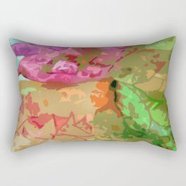 Abtract leaves and flower Rectangular Pillow