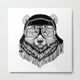 Grizzly Speed Rebel Metal Print