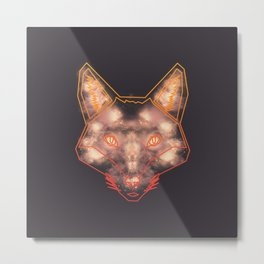 Starry Fox Metal Print
