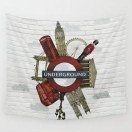 Around London digital illustration Wall Tapestry