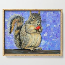 Cheeky Squirrel Painting Serving Tray