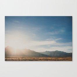 Setting Sun on Desert Landscape  Canvas Print