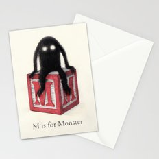 M is for Monster Stationery Cards