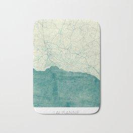 Lausanne Map Blue Vintage Bath Mat