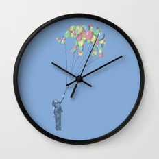 Elephants Can Fly Wall Clock