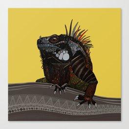 iguana gold Canvas Print