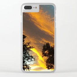 Sky Flame Clear iPhone Case