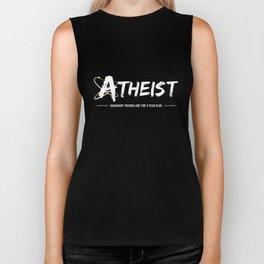 Funny Atheist Imaginary Friend Science Logo Tee Shirt Biker Tank