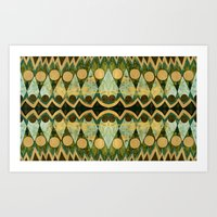 Art Print featuring Border 3 E Pattern 2 by Cie Ja