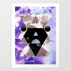 Faces of the universe Art Print