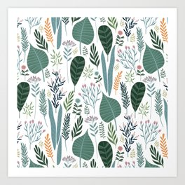 Early Spring Thaw In The Flower Garden Pattern Art Print