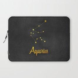 Aquarius Constellation Gold Laptop Sleeve