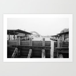 Water barrier Art Print