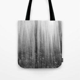 Ghostly forest, black and white Tote Bag