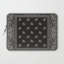 Paisley - Bandana - Black -  Southwestern Laptop Sleeve