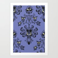 haunted mansion Art Prints featuring Phantom Manor - Haunted Mansion by Katikut