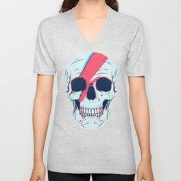 Bowie Skull Unisex V-Neck