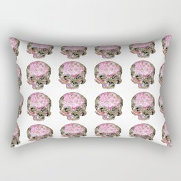 Skull In Pink & Gold Rectangular Pillow