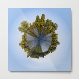 Tiny Planet Metal Print