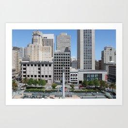 Union Square, San Francisco Art Print