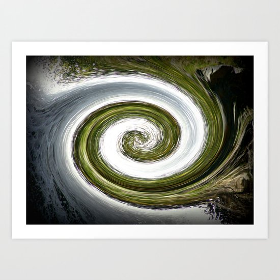 Eye of a Cyclone Art Print