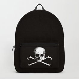 Skull and Crossbones | Jolly Roger | Pirate Flag | Black and White | Backpack