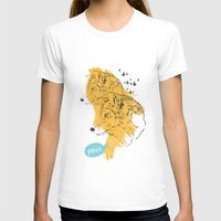 wolves T-shirts featuring Wolves by Ann Van Haeken