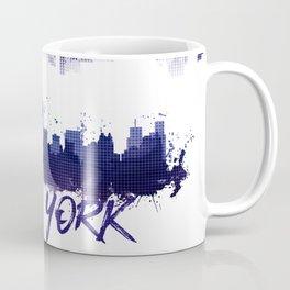 Graphic Art NYC Skyline Splashes   purple Coffee Mug