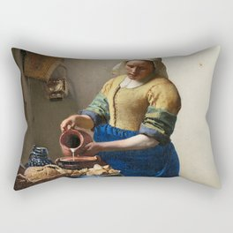 The Milkmaid by Johannes Vermeer Rectangular Pillow