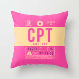 Luggage Tag B - CPT Cape Town South Africa Throw Pillow