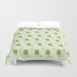 cupcake with black currant and mint Duvet Cover