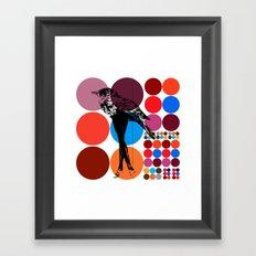 poster heroine  Framed Art Print