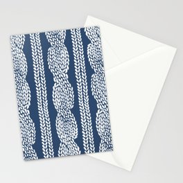 Cable Navy Stationery Cards