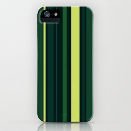 Yellow and Shades of Green Stripes iPhone Case