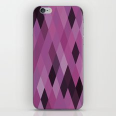 Muted Berry Color Harlequin Pattern iPhone & iPod Skin