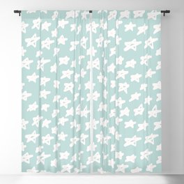 Stars on mint background Blackout Curtain