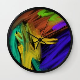 Abstract 3 Painting in Oil Wall Clock