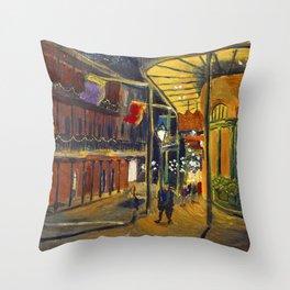 Nola at Night Throw Pillow