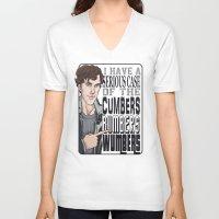 enerjax V-neck T-shirts featuring CumbersBumbersWumbers by enerjax
